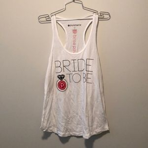 Pure Barre 'BRIDE TO BE' Racerback Tank LG